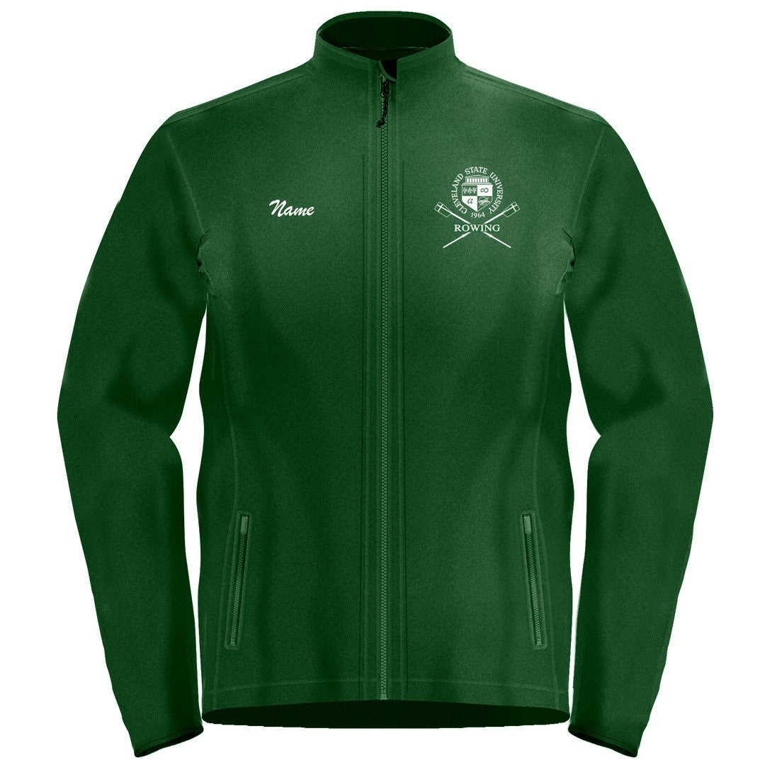 Full Zip Cleveland State University Rowing Fleece Pullover