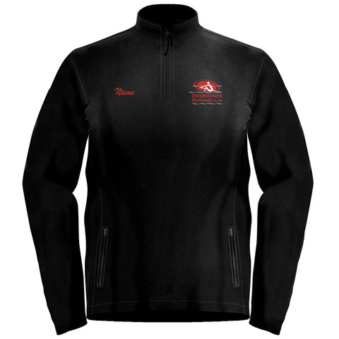 1/4 Zip Des Moines Rowing Club  Fleece Pullover