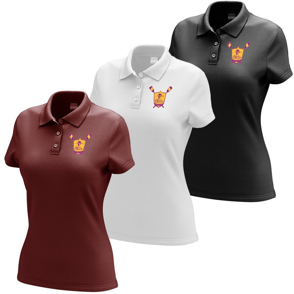 Gentle Giant Rowing Club Embroidered Performance Ladies Polo