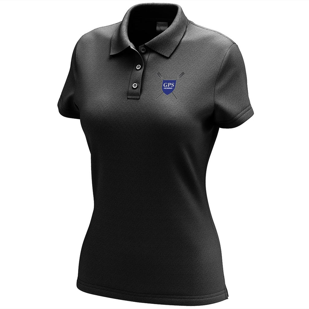 Girls Prep School Crew Embroidered Performance Ladies Polo