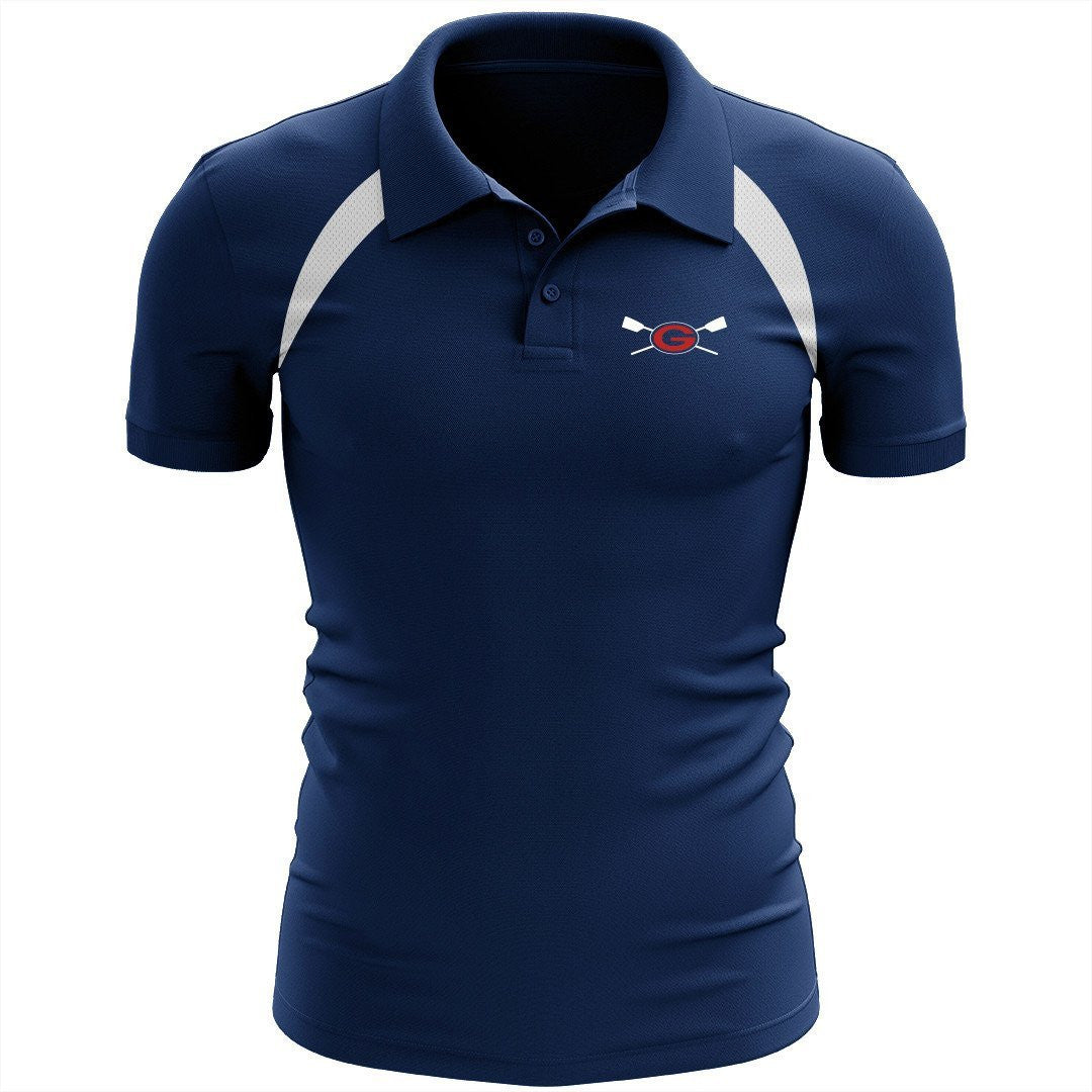 Grassfield Crew Embroidered Performance Men's Polo - Colorblocked