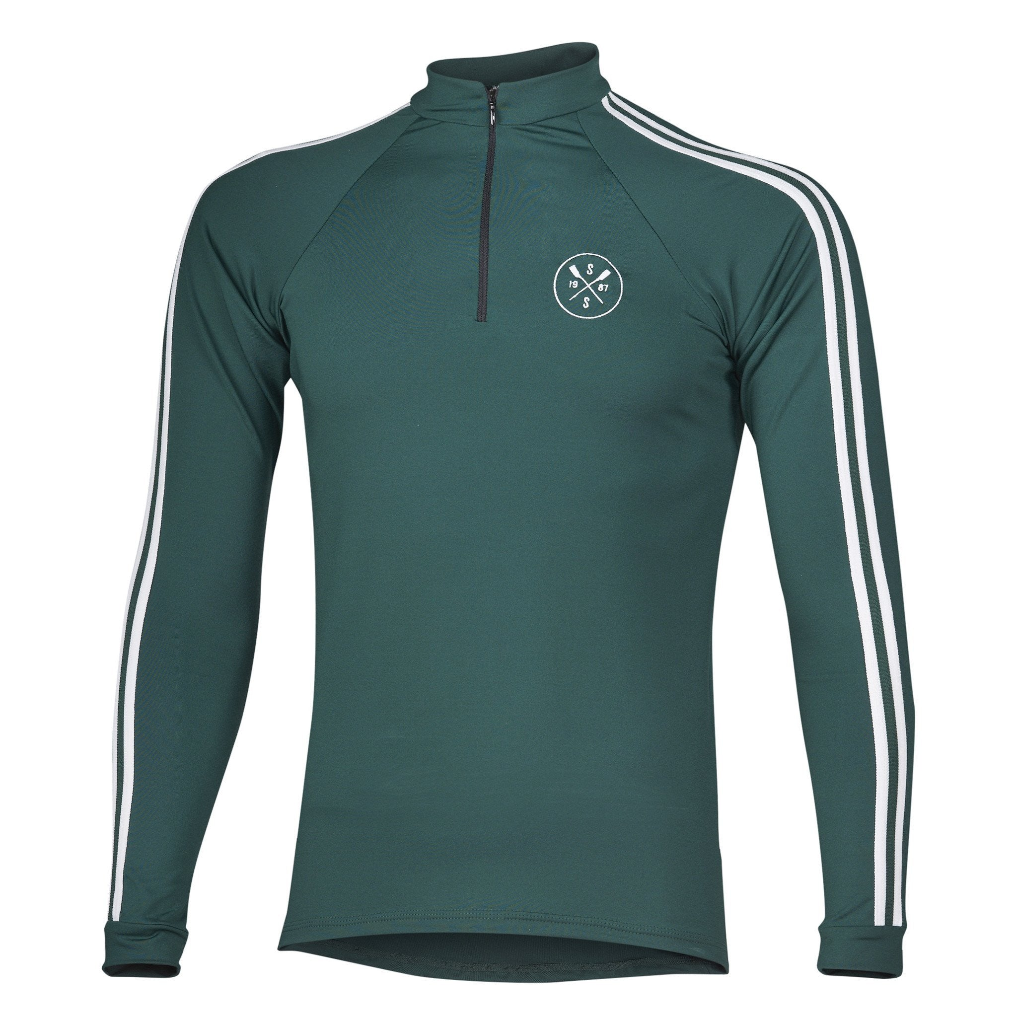 Sew Sporty Long Sleeve Warm-Up with Zipper (Green)