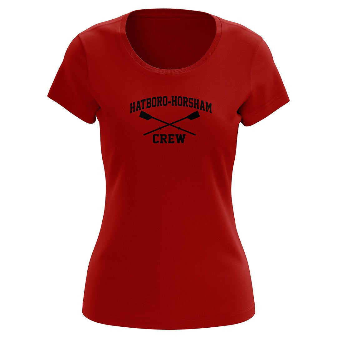 100% Cotton Hatboro Horsham Crew Women's Team Spirit T-Shirt