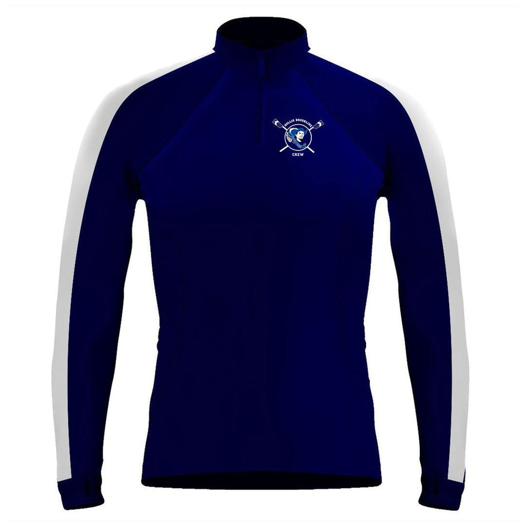 Long Sleeve Hollis Brookline Crew 1/4 Zip Warm-Up Shirt