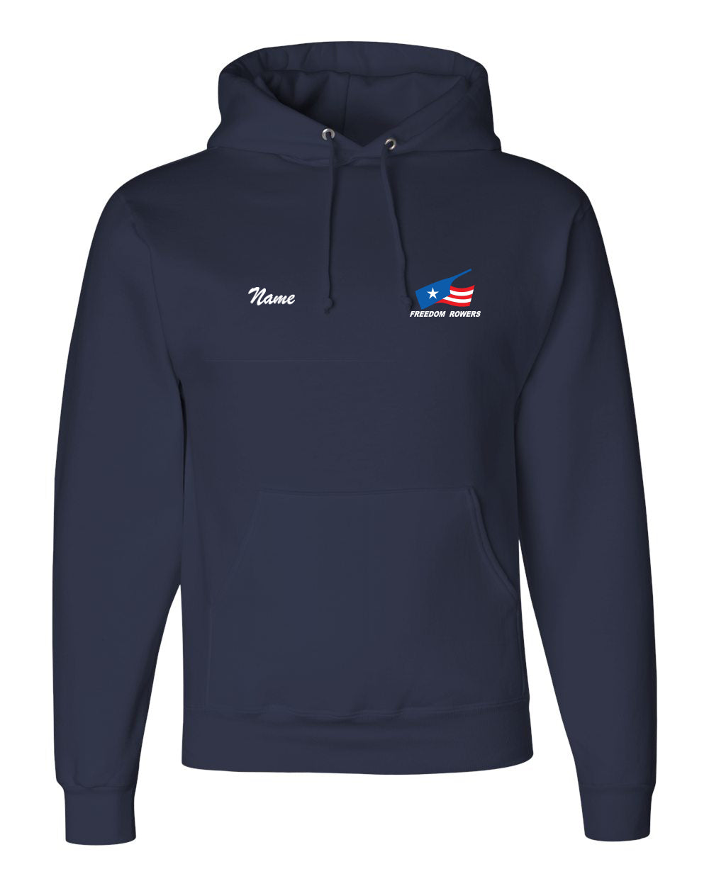 50/50 Hooded Freedom Rowers Pullover Sweatshirt
