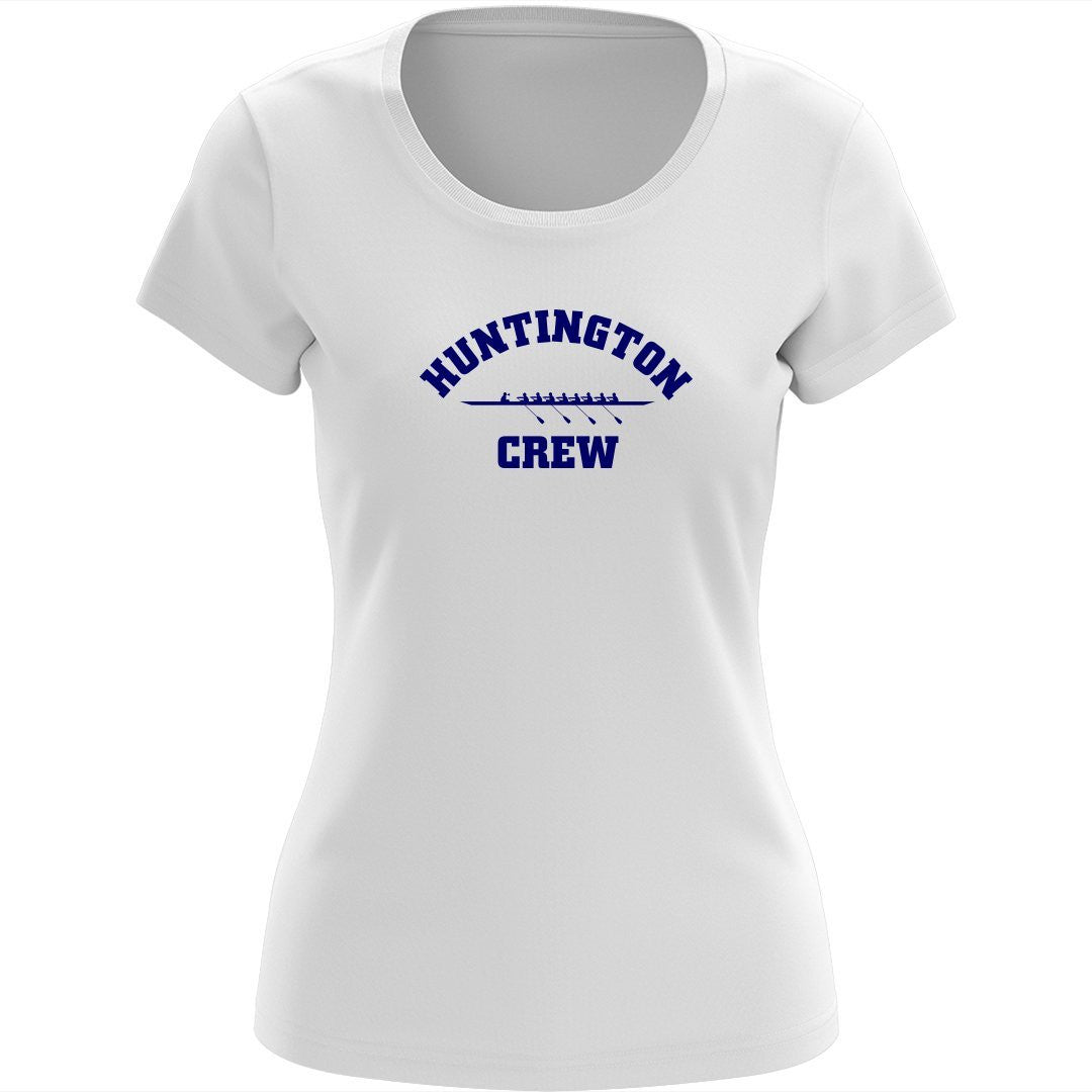100% Cotton Huntington Crew Women's Team Spirit T-Shirt