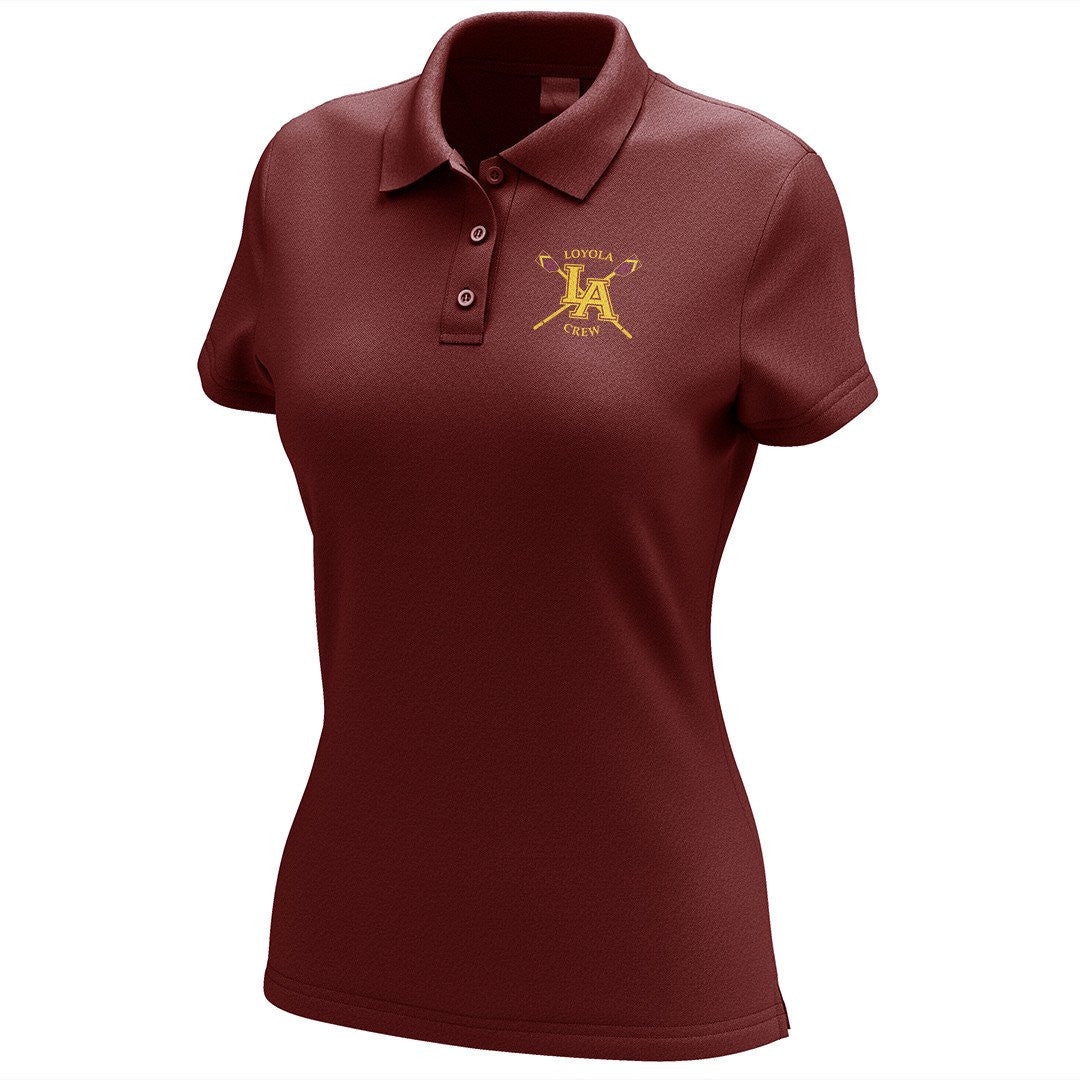 Loyola Crew Embroidered Performance Ladies Polo