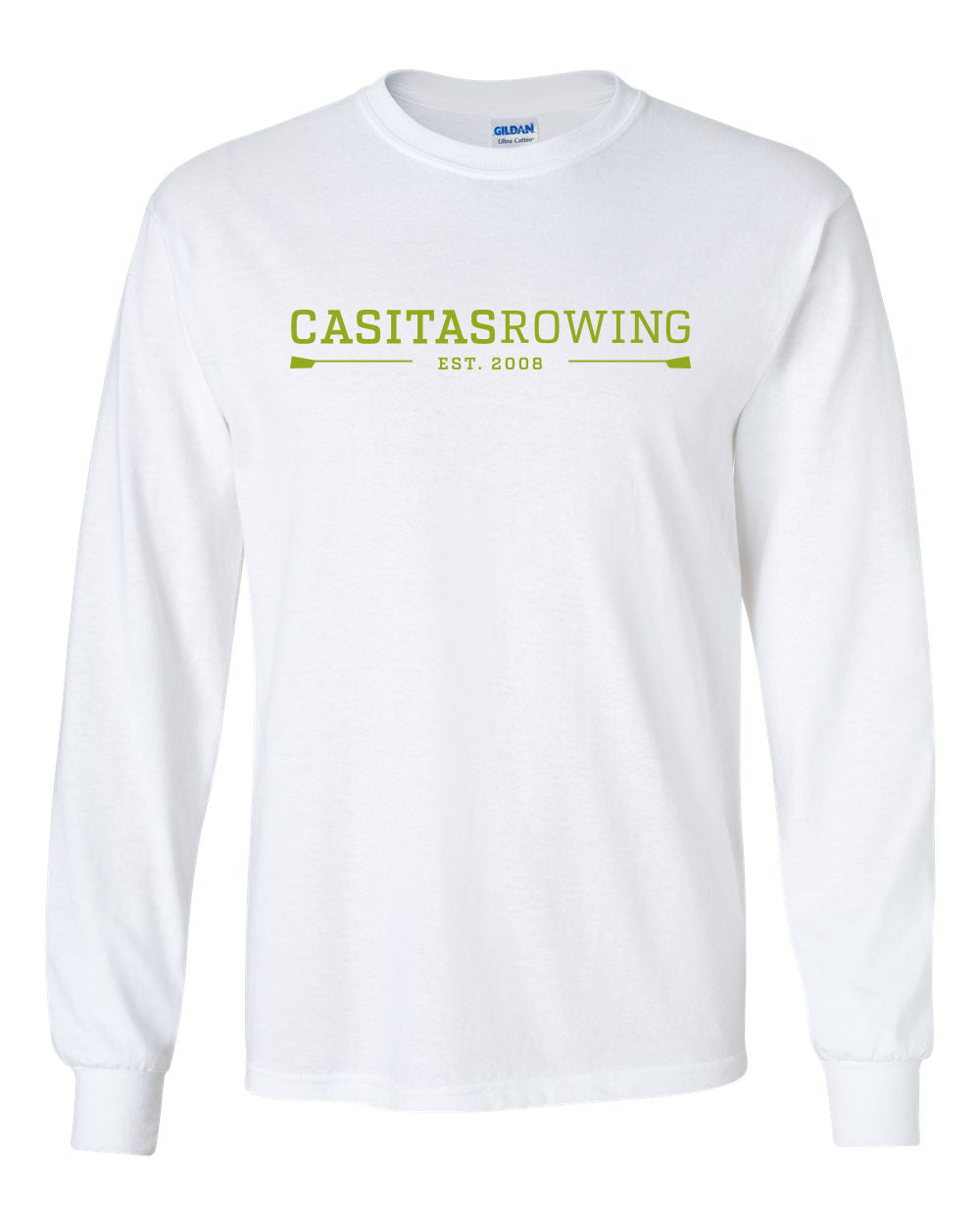Custom Casitas Rowing Long Sleeve Cotton T-Shirt