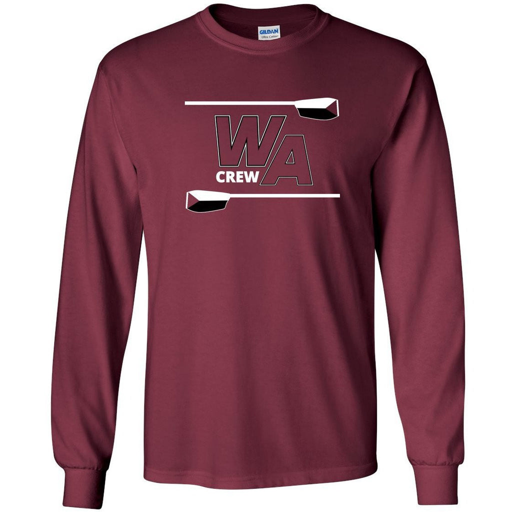 Custom Westford Crew Long Sleeve Cotton T-Shirt