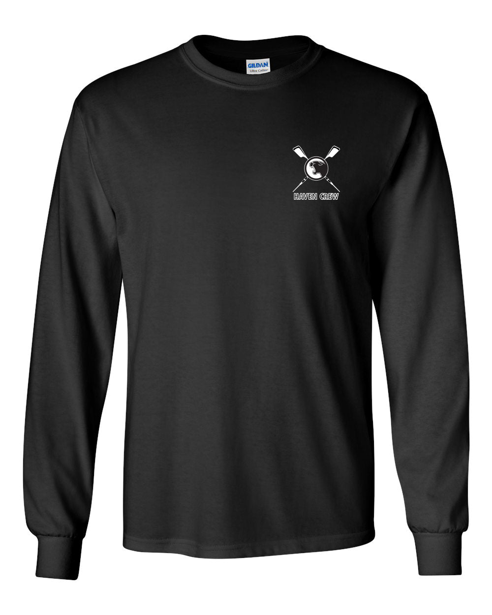 Custom Haven Crew Long Sleeve Cotton T-Shirt