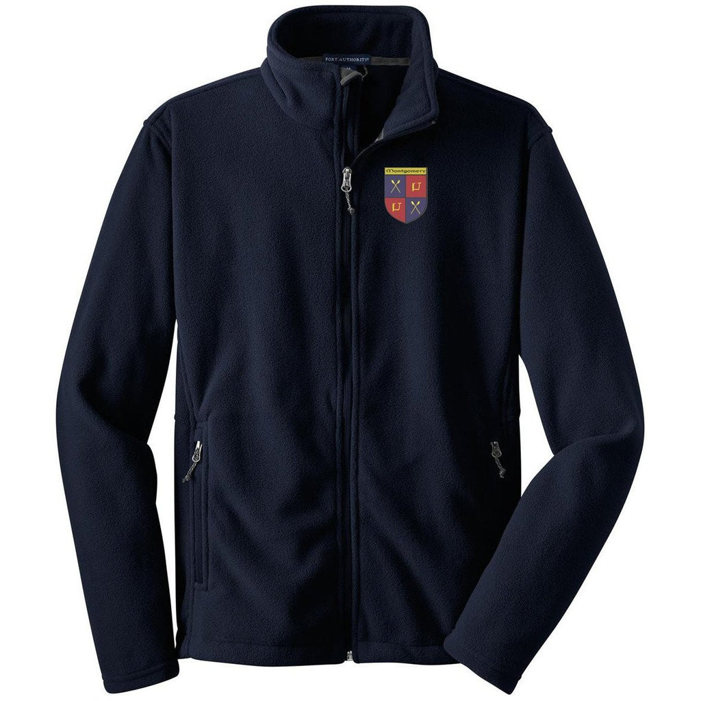 Full Zip Montgomery Boat Club Men's Fleece Pullover