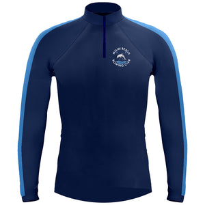 Long Sleeve Miami Beach 1/4 Zip Warm-Up Shirt