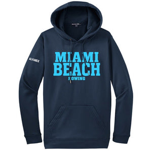 Hooded Miami Beach Pullover Sweatshirt