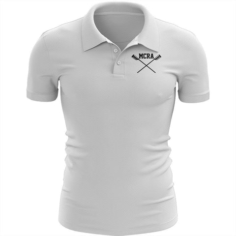 Merrymeeting Rowing Embroidered Performance Men's Polo