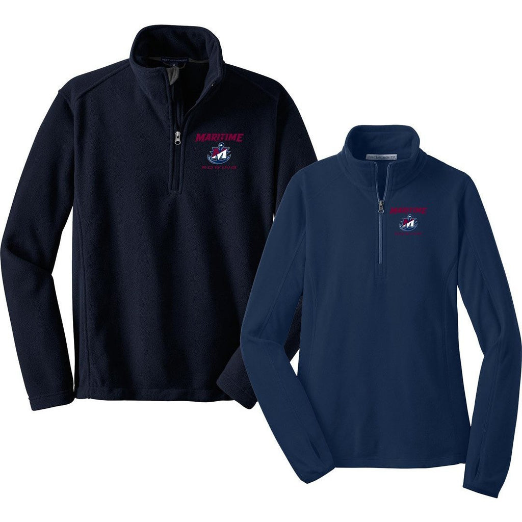 1/4 Zip Maritime Rowing Fleece Pullover