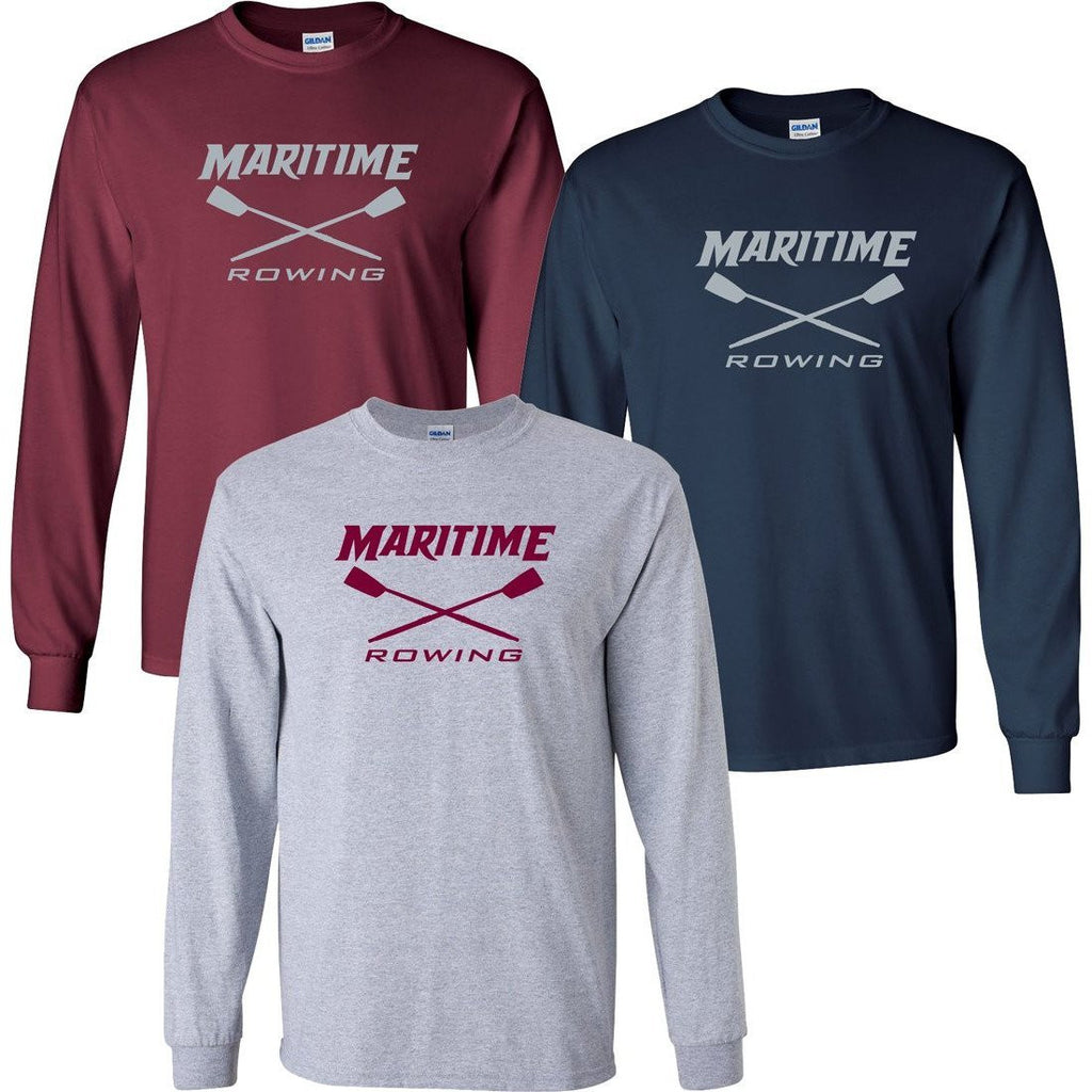 Custom Maritime Rowing Long Sleeve Cotton T-Shirt