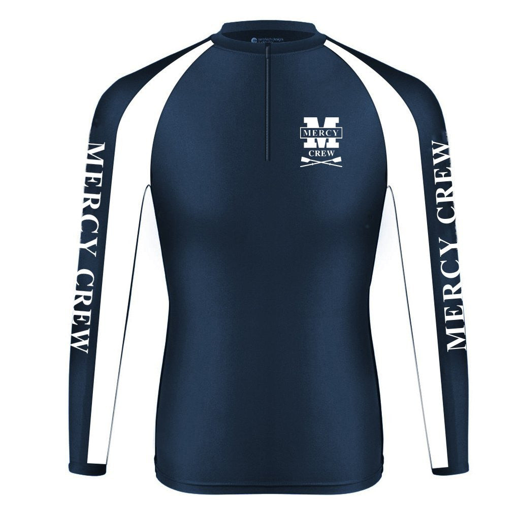 Long Sleeve Mercy Crew Warm-Up Shirt with Zipper