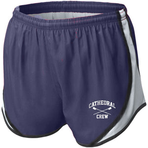 NCS Crew Ladies Running Shorts (Navy/White)