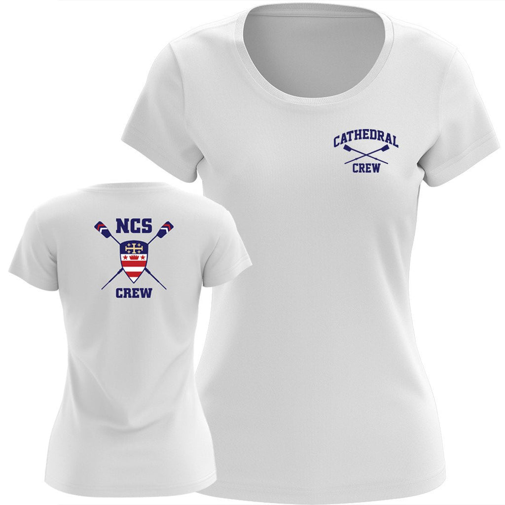 NCS Crew Performance TS- White Short Sleeve