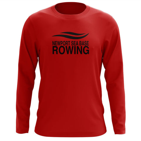 Custom Newport Sea Base Rowing Long Sleeve Cotton T-Shirt