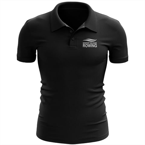 Newport Sea Base Rowing Embroidered Performance Men's Polo