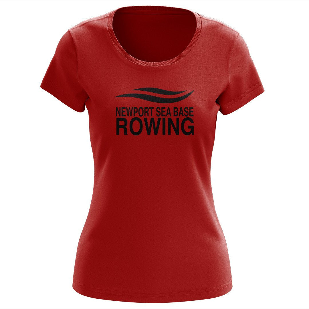 100% Cotton Newport Sea Base Rowing Women's Team Spirit T-Shirt