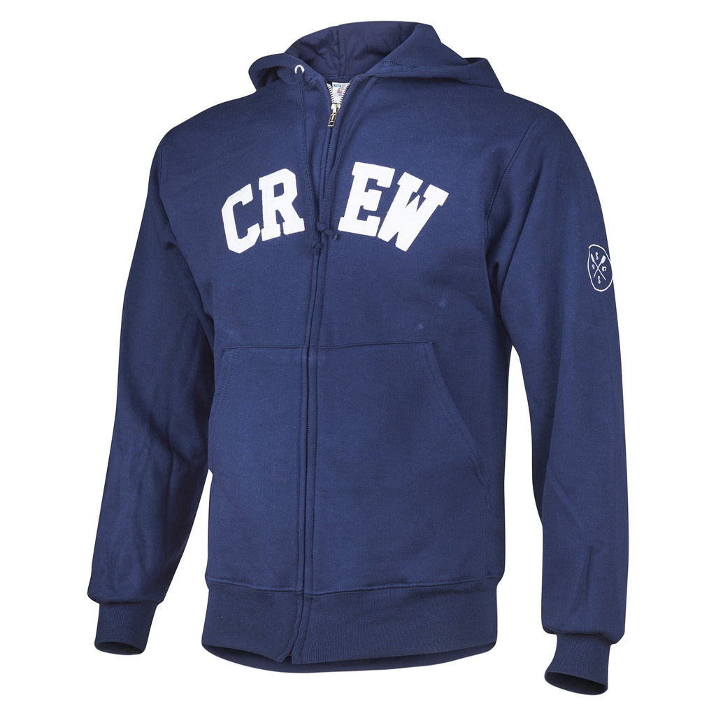 Sew Sporty Full Zip CREW Sweatshirt (Navy)