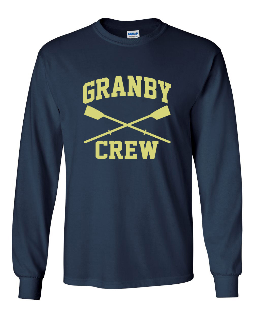 Custom Granby Crew Long Sleeve Cotton T-Shirt