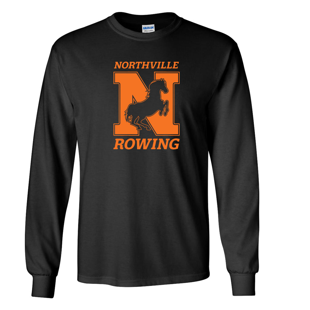 Custom Northville Long Sleeve Cotton T-Shirt