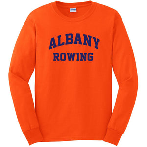 Custom Albany Rowing Center Long Sleeve Cotton T-Shirt