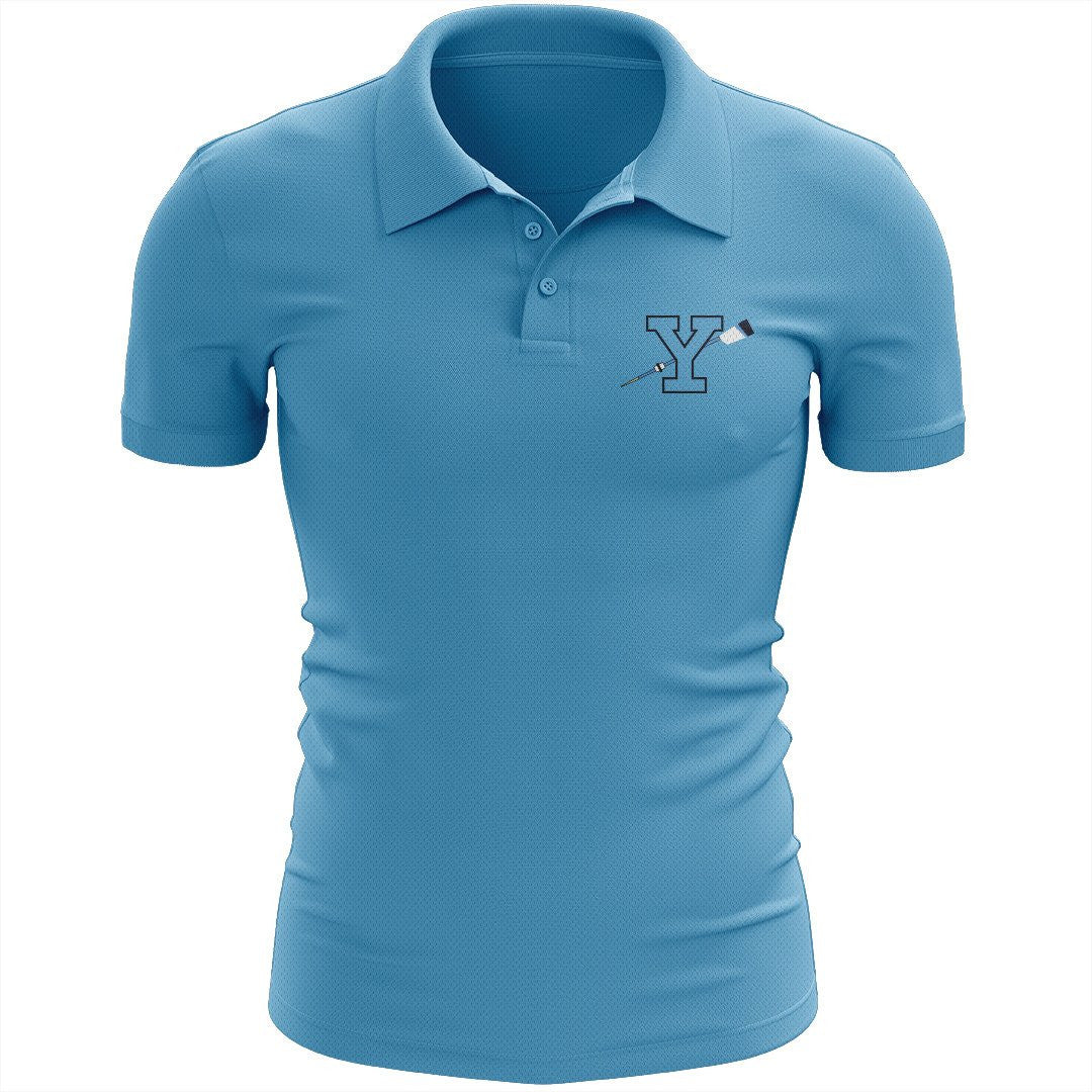 Yorktown Crew Embroidered Performance Men's Polo