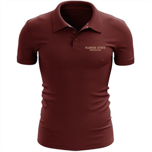 Florida State Rowing Embroidered Performance Men's Polo