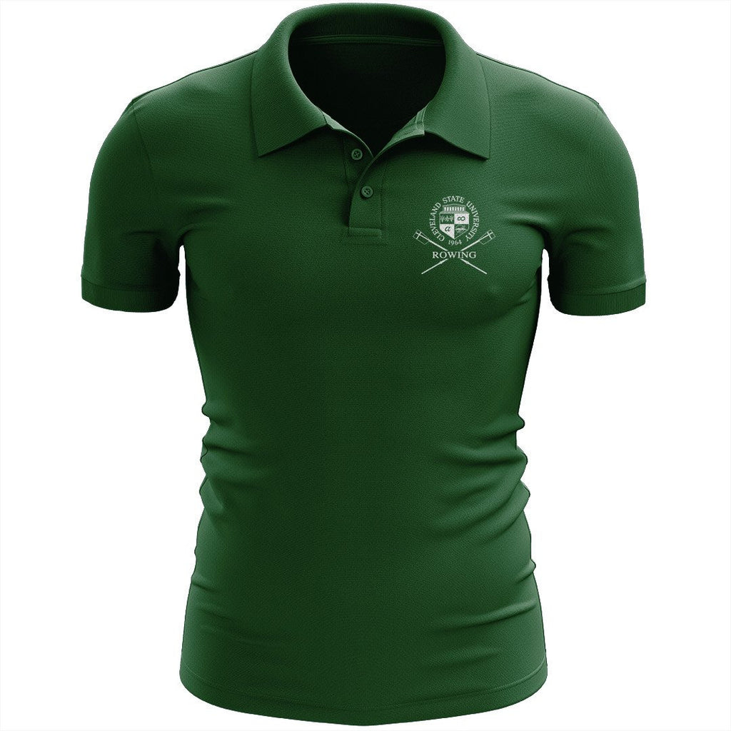 Cleveland State University Rowing Embroidered Performance Men's Polo