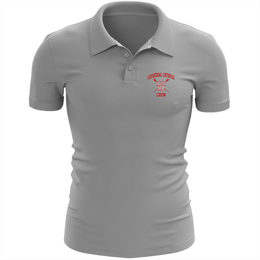 Cathedral Catholic Crew Embroidered Performance Men's Polo