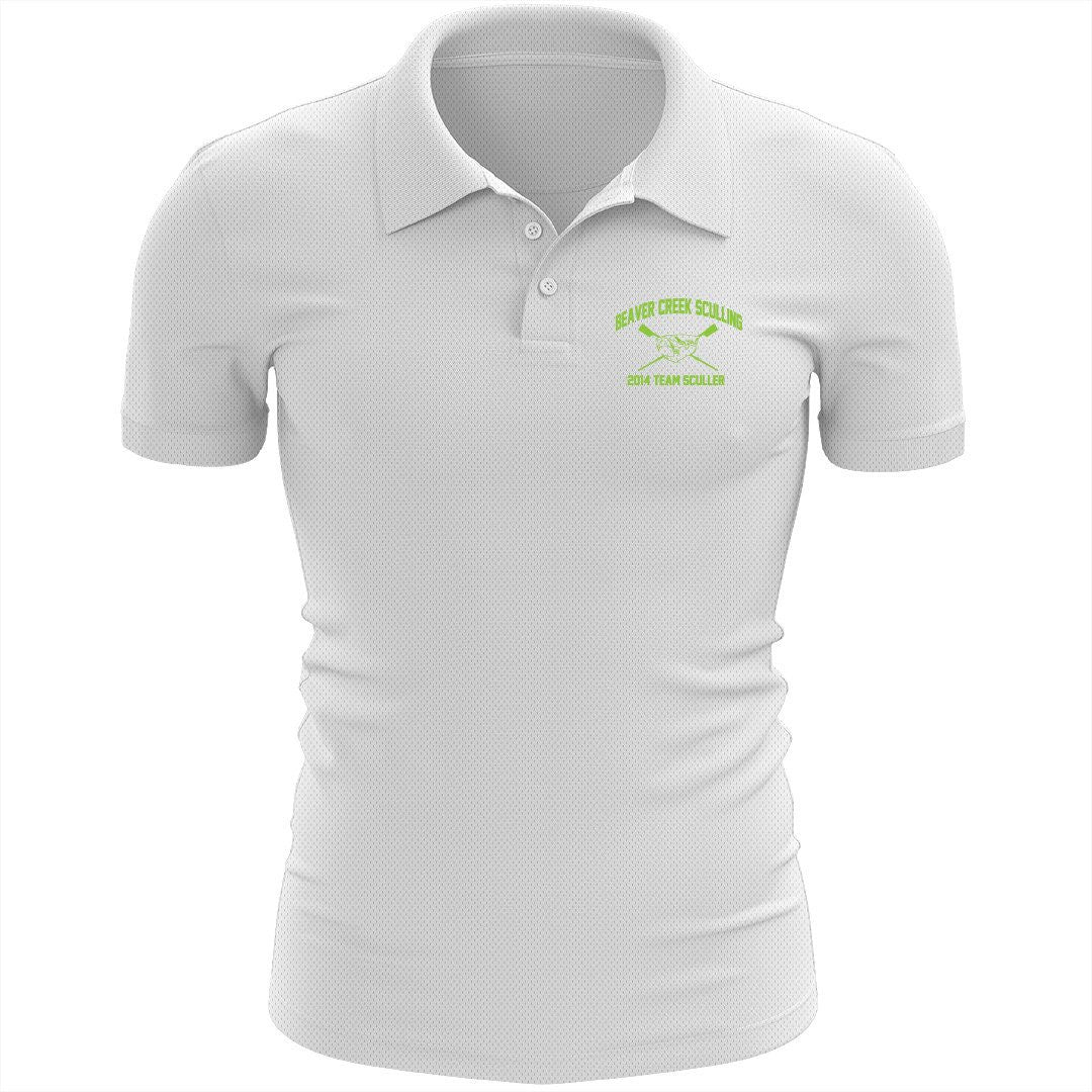 Beaver Creek Sculling Embroidered Performance Men's Polo