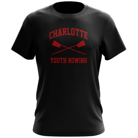 100% Cotton Charlotte Youth Rowing Club Men's Team Spirit T-Shirt