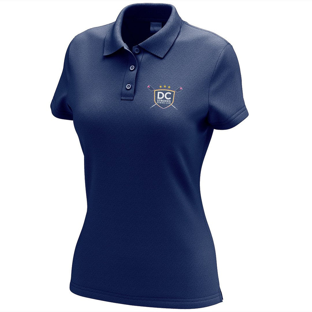 DC Strokes Rowing Club Embroidered Performance Ladies Polo