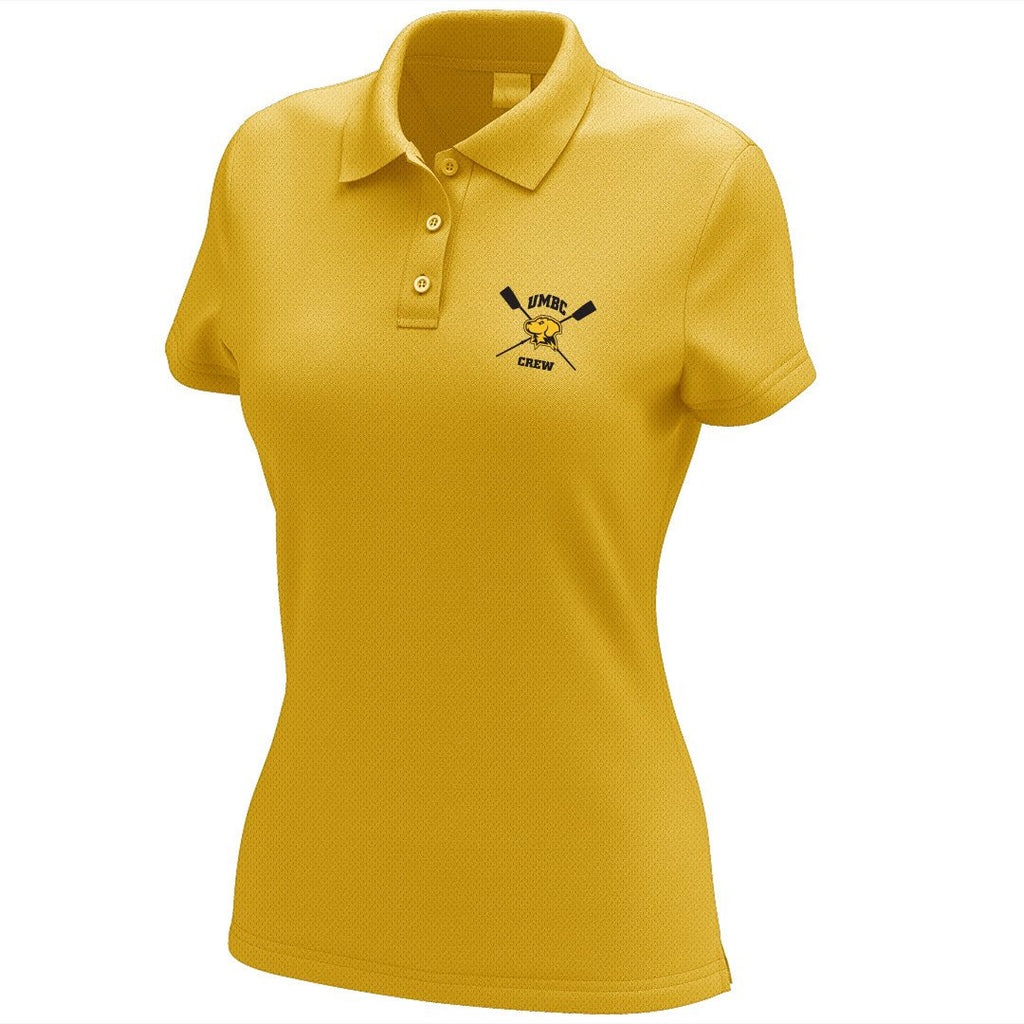 UMBC Crew Embroidered Performance Ladies Polo