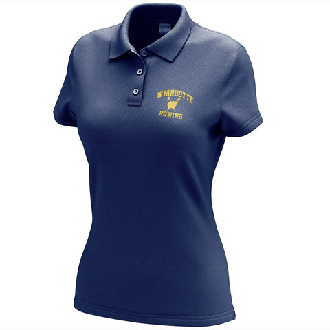 Wyandotte Rowing Embroidered Performance Ladies Polo