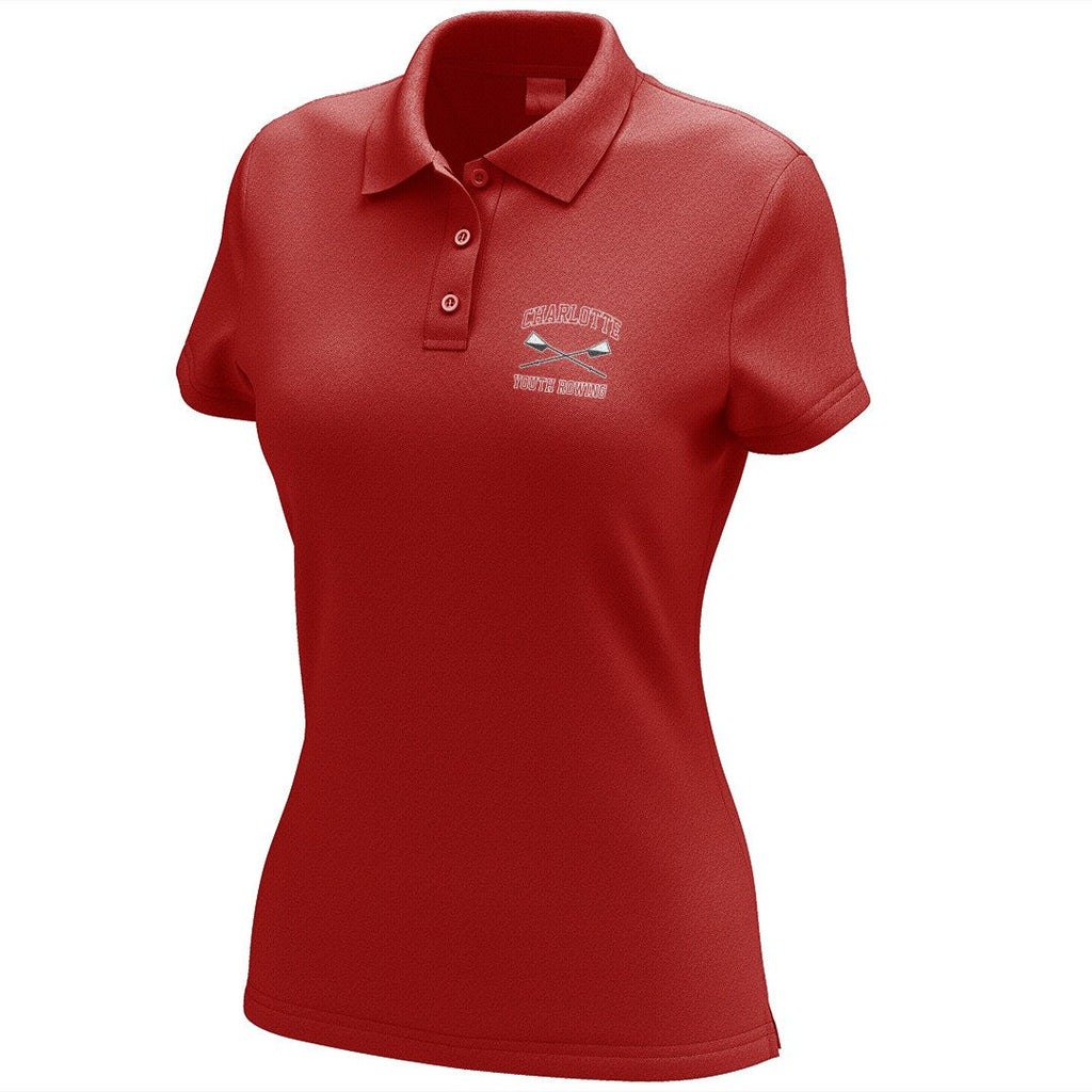 Charlotte Youth Rowing Club Embroidered Performance Ladies Polo