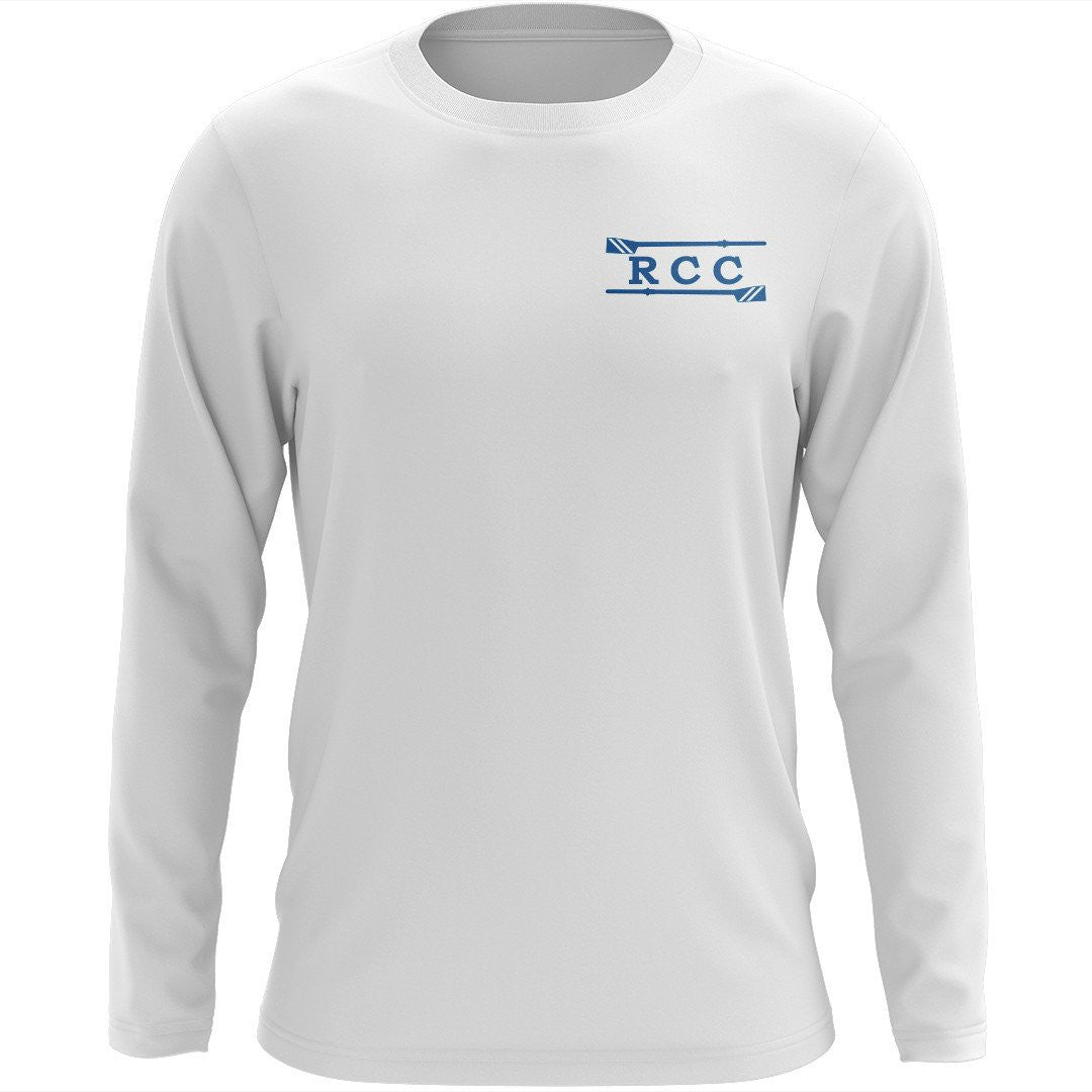 Custom River City Crew Long Sleeve Cotton T-Shirt