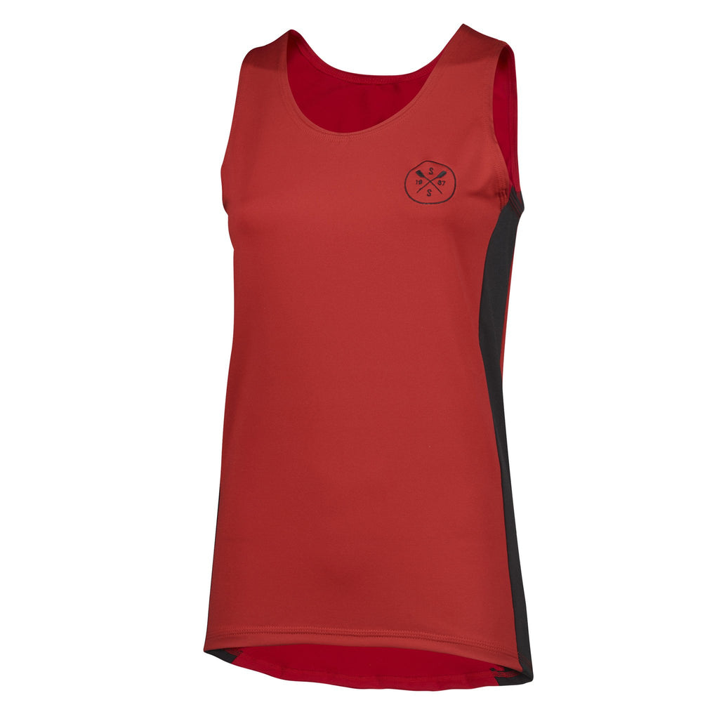 Sew Sporty Fitted Tech Tank - Dryflex Poly Spandex (Red)