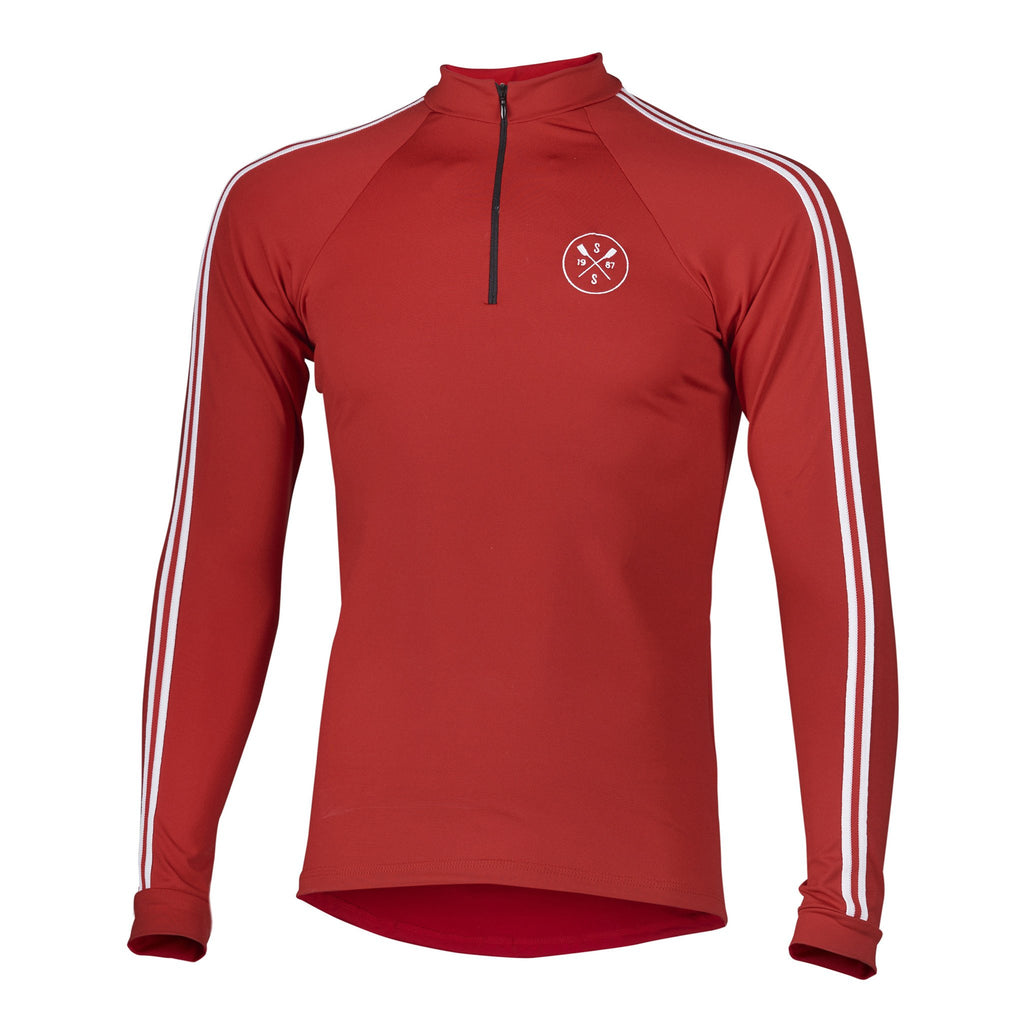 Sew Sporty Long Sleeve Warm-Up with Zipper (Red)