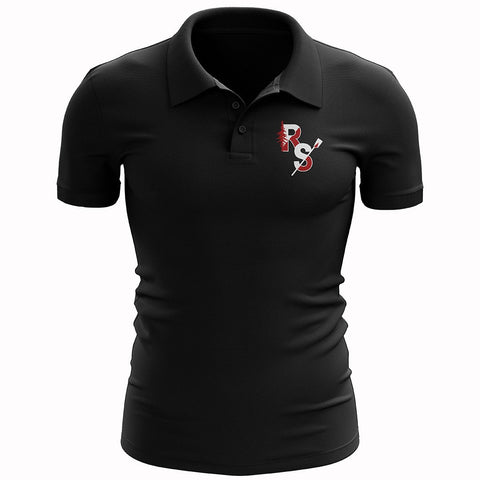 Redwood Scullers Black Polo Shirt