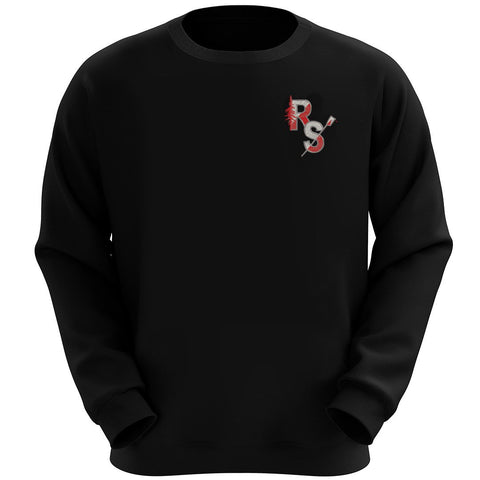 Redwood Scullers Black crew neck Sweatshirt