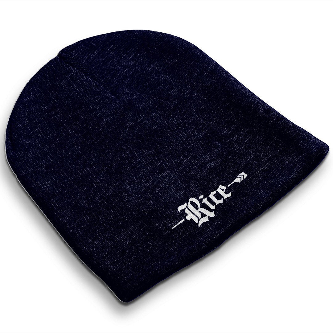 Straight Knit Rice Crew Beanie