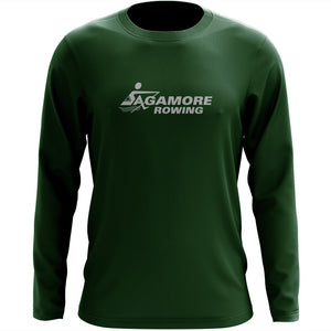 Custom Sagamore Rowing Long Sleeve Cotton T-Shirt