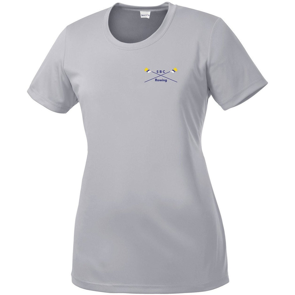 South Bend Community Rowing Women's embroidered Drytex Performance T-Shirt