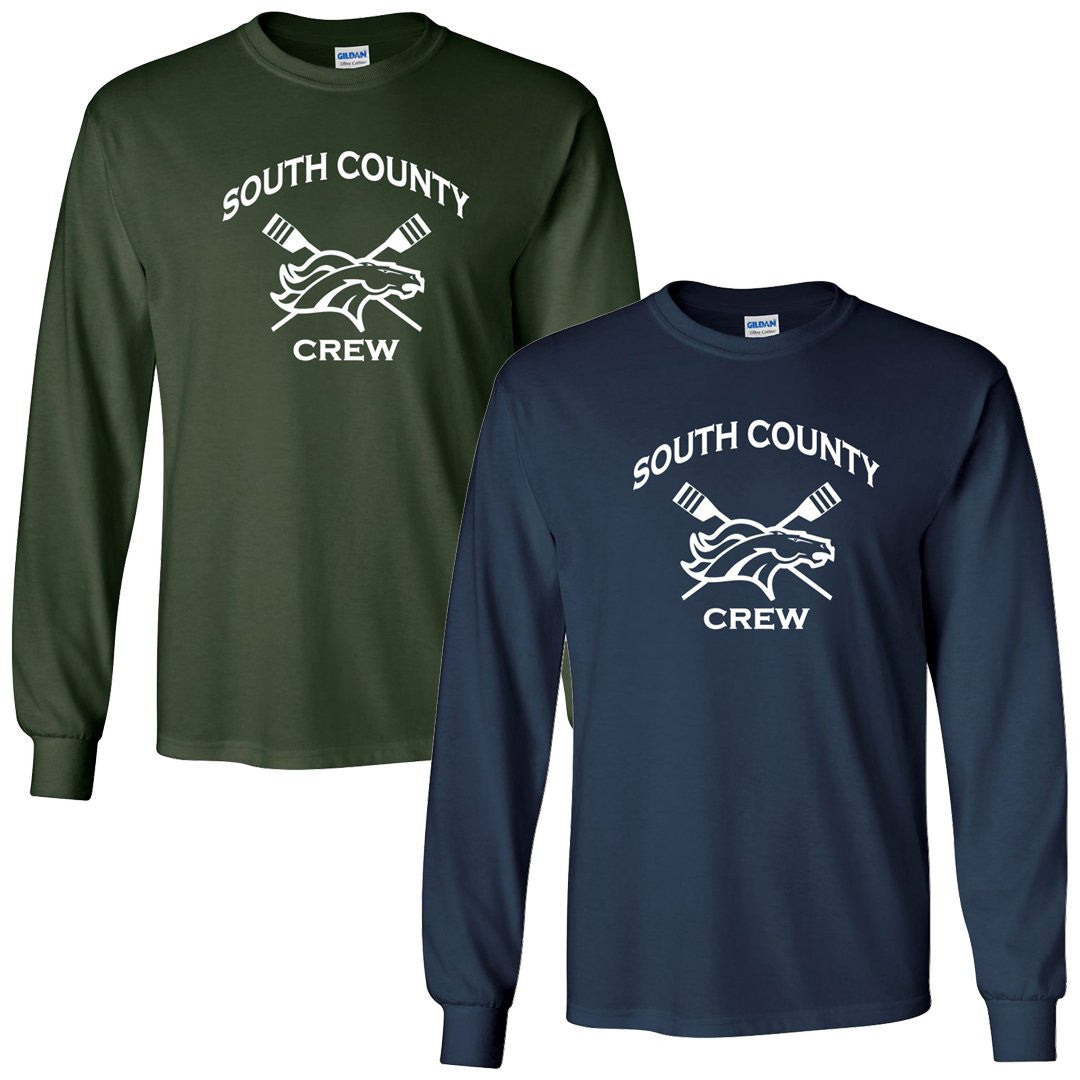 Custom South County Crew Long Sleeve Cotton T-Shirt