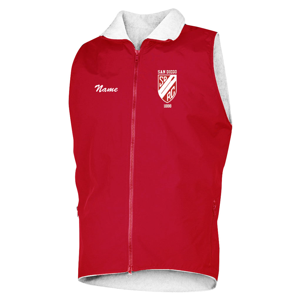 San Diego Rowing Club Team Nylon/Fleece Vest